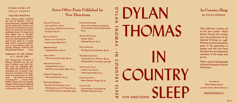 In Country Sleep. Dylan Thomas