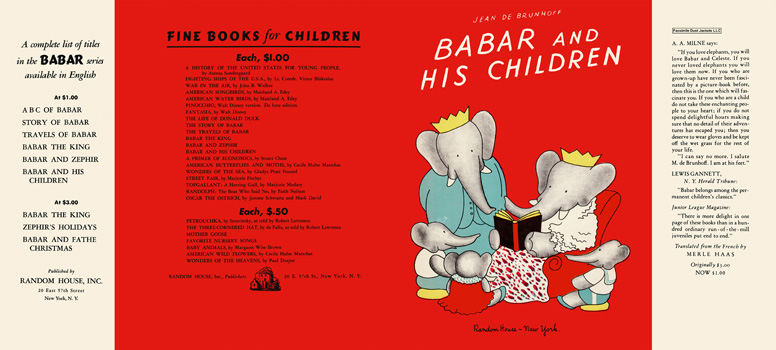 Babar and His Children. Jean De Brunhoff