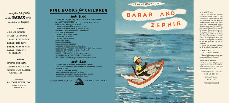 Babar and Zephir. Jean De Brunhoff.