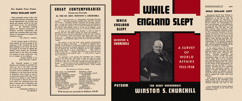 While England Slept. Winston S. Churchill