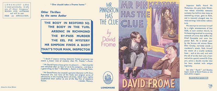 Mr. Pinkerton Has the Clue. David Frome