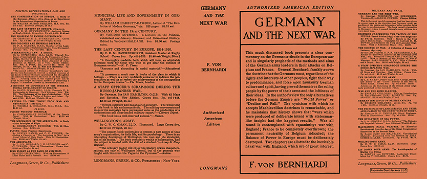 Germany and the Next War. F. von Bernhardi