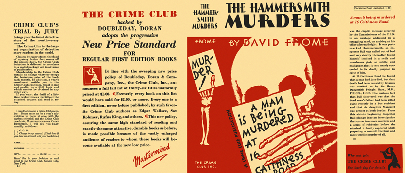 Hammersmith Murders, The. David Frome.