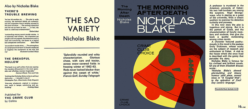 Morning After Death, The. Nicholas Blake.