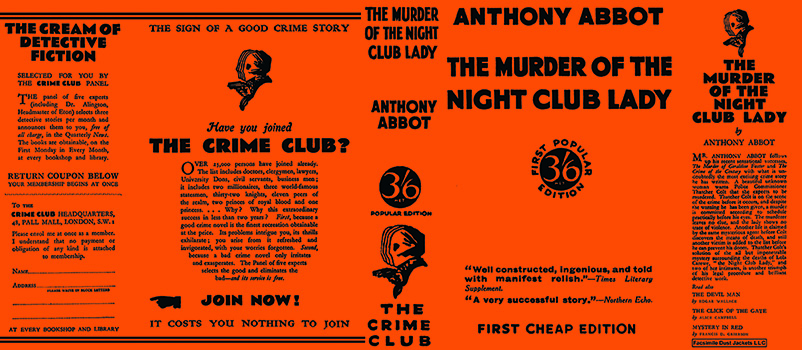 Murder of the Night Club Lady, The. Anthony Abbot