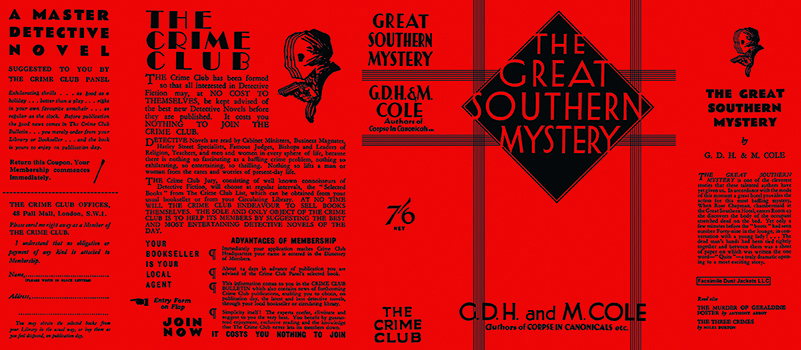 Great Southern Mystery, The. G. D. H. Cole, Margaret Cole.