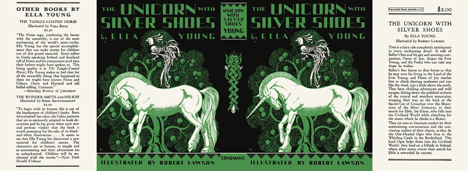 Unicorn with Silver Shoes, The. Ella Young, Robert Lawson.