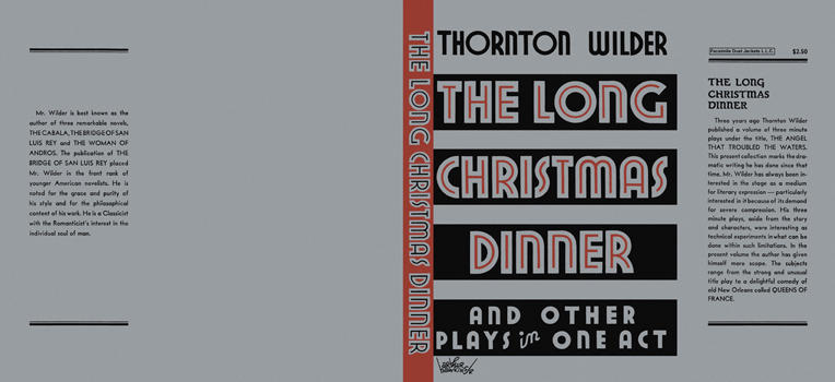 Long Christmas Dinner and Other Plays in One Act, The. Thornton Wilder