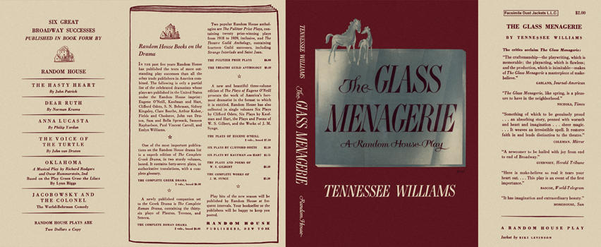 Glass Menagerie, A Random House Play, The. Tennessee Williams