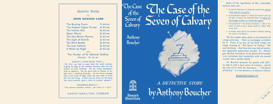 Case of the Seven of Calvary, The. Anthony Boucher.