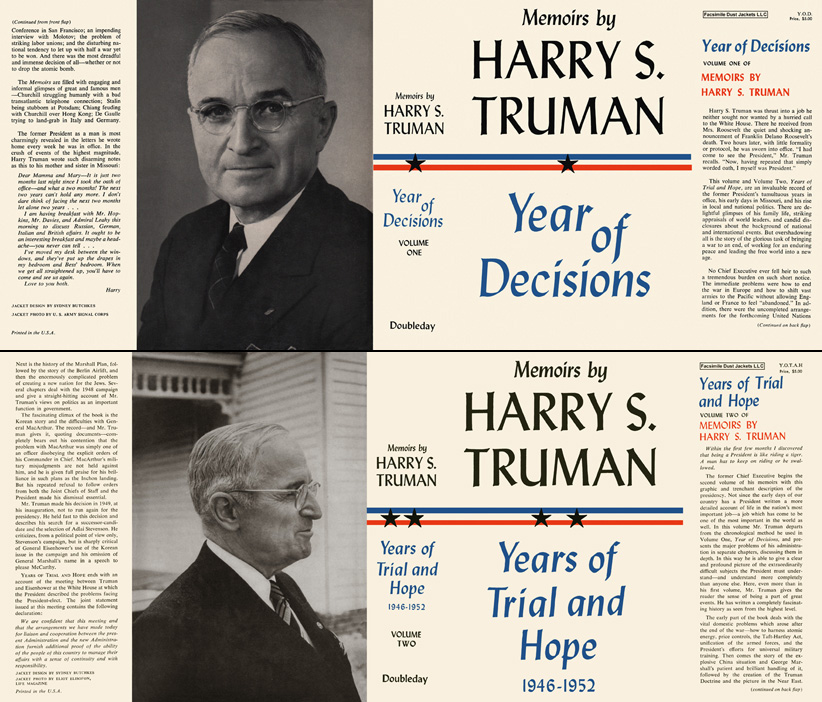Memoirs of Harry S. Truman, Volume 1 and 2. Harry S. Truman