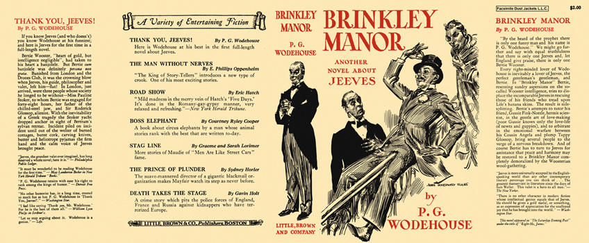 Brinkley Manor. P. G. Wodehouse.