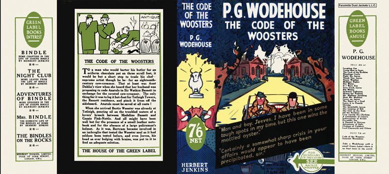 Code of the Woosters, The. P. G. Wodehouse.