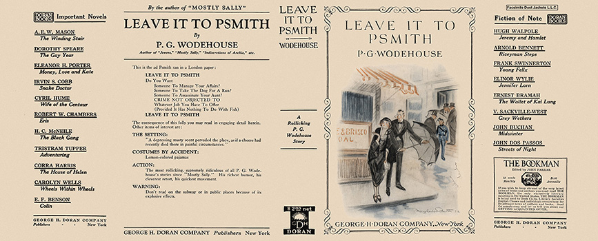 Leave It to Psmith. P. G. Wodehouse.