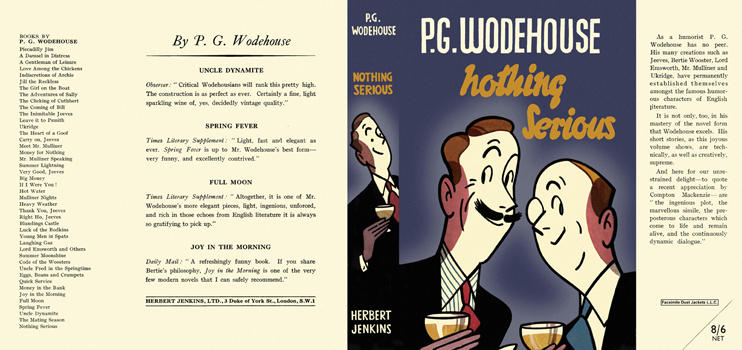 Nothing Serious. P. G. Wodehouse