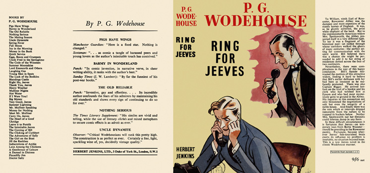 Ring for Jeeves. P. G. Wodehouse.