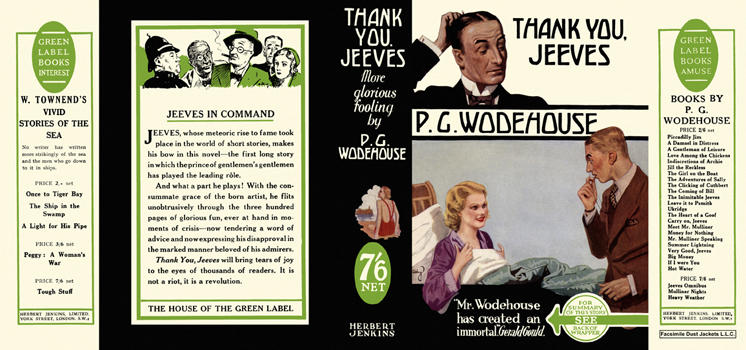 Thank You, Jeeves. P. G. Wodehouse.