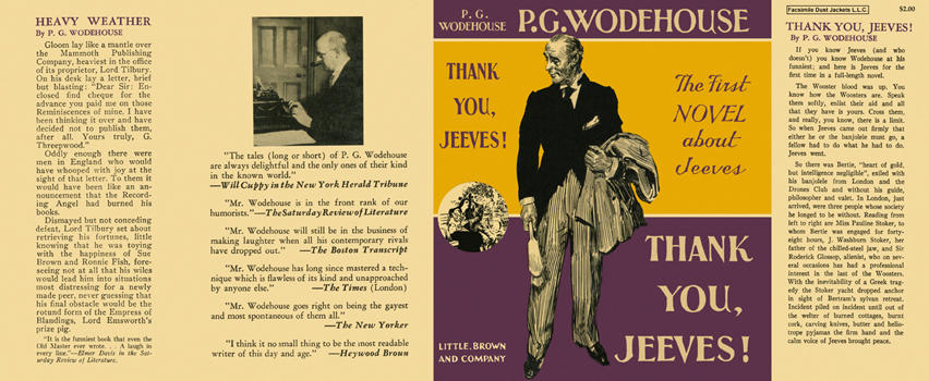 Thank You, Jeeves! P. G. Wodehouse.