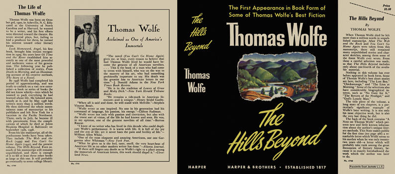 Hills Beyond, The. Thomas Wolfe