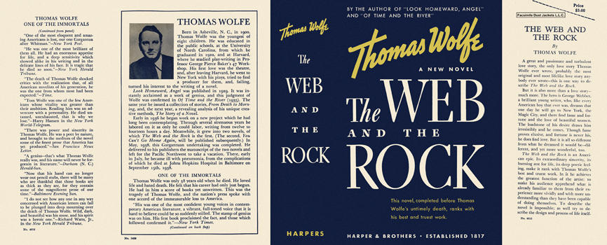 Web and the Rock, The. Thomas Wolfe