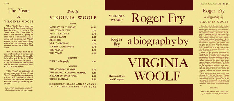 Roger Fry, A Biography. Virginia Woolf.