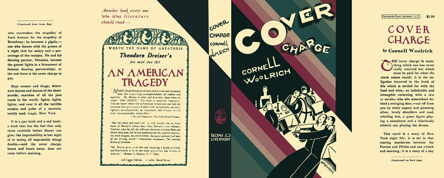 Cover Charge. Cornell Woolrich