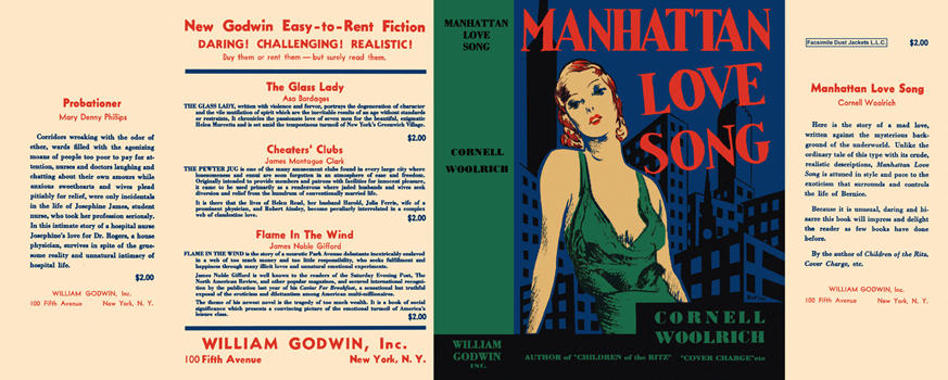Manhattan Love Song. Cornell Woolrich