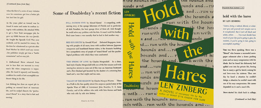 Hold with the Hares. Len Zinberg.
