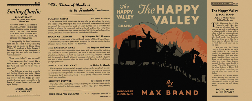Happy Valley, The. Max Brand.
