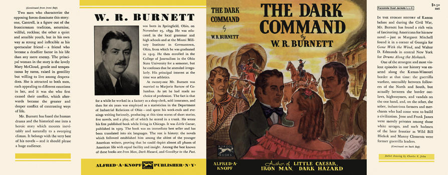 Dark Command, The. W. R. Burnett.