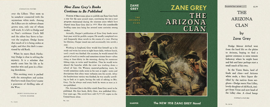 Arizona Clan, The. Zane Grey.