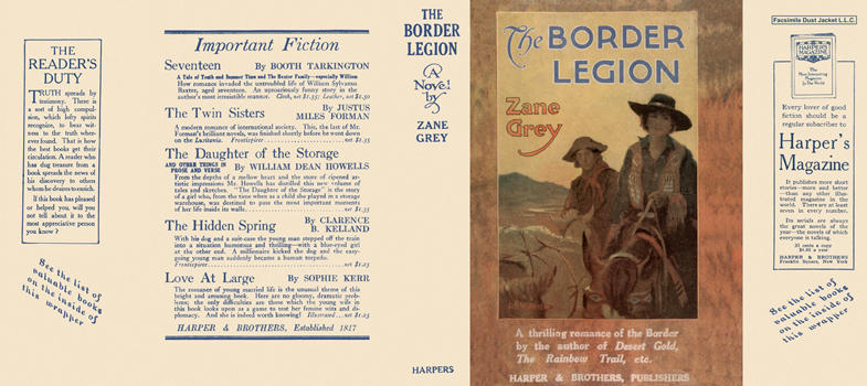 Border Legion, The. Zane Grey.