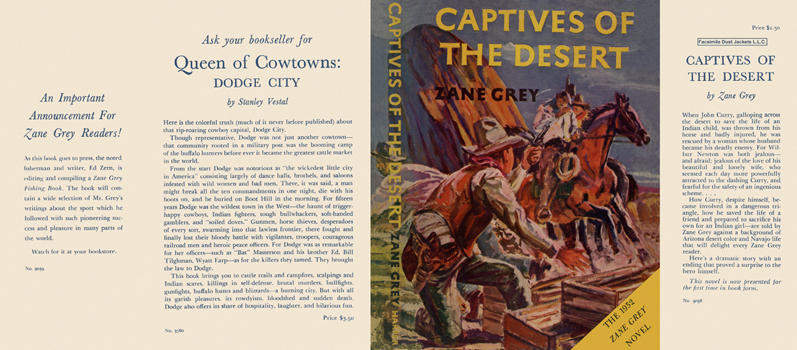 Captives of the Desert. Zane Grey
