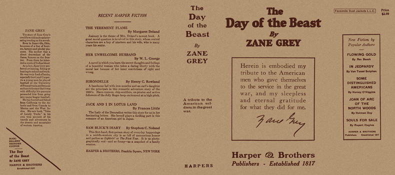 Day of the Beast, The. Zane Grey