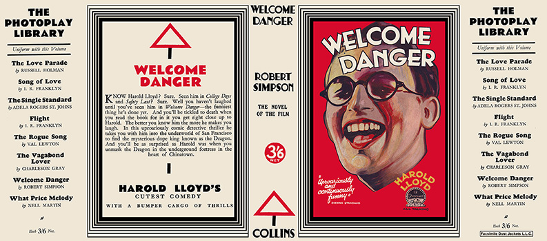 Welcome Danger. Robert Simpson.