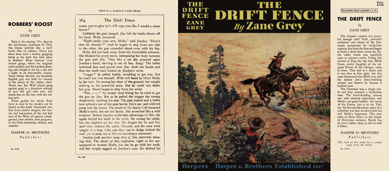 Drift Fence, The. Zane Grey