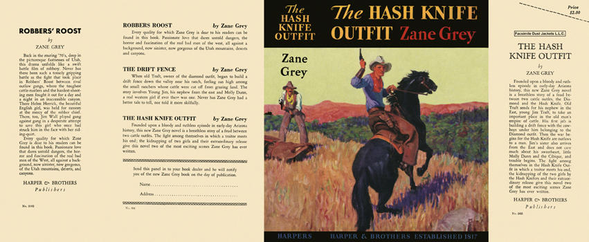 Hash Knife Outfit, The. Zane Grey