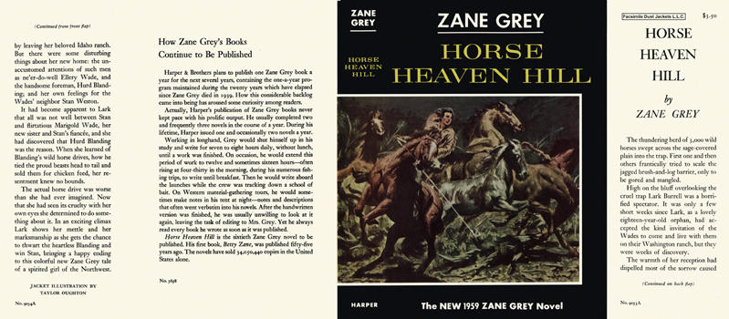 Horse Heaven Hill. Zane Grey