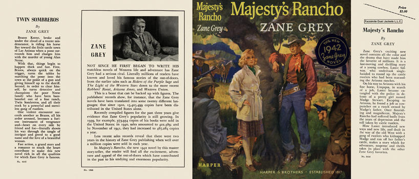 Majesty's Rancho. Zane Grey