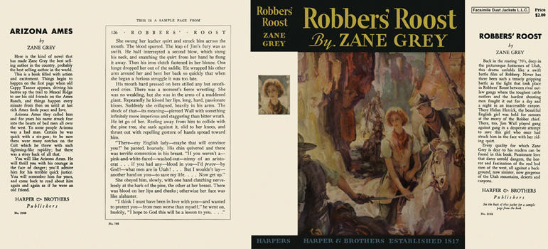 Robbers' Roost. Zane Grey