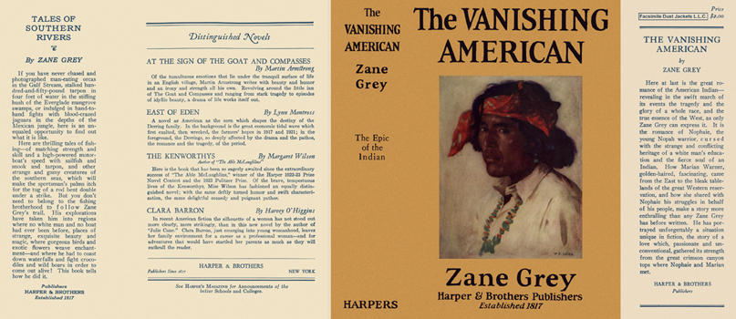 Vanishing American, The. Zane Grey