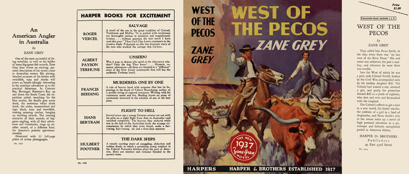 West of the Pecos. Zane Grey