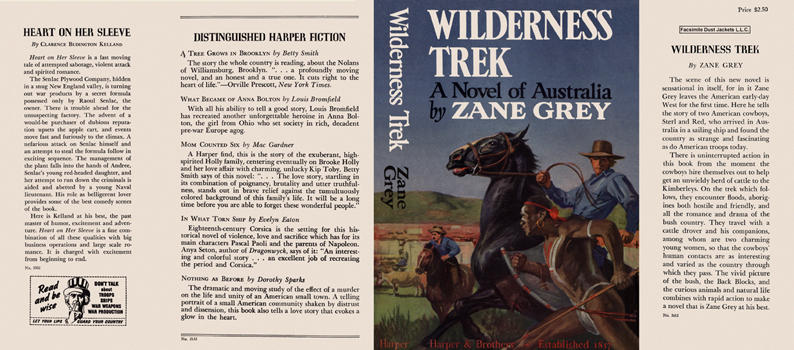 Wilderness Trek, A Novel of Australia. Zane Grey