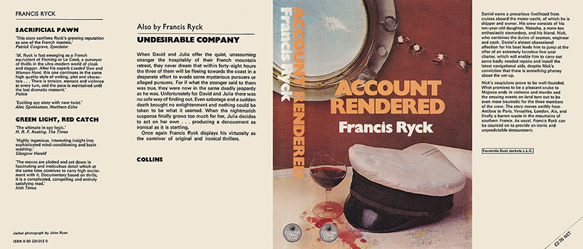 Account Rendered. Francis Ryck.