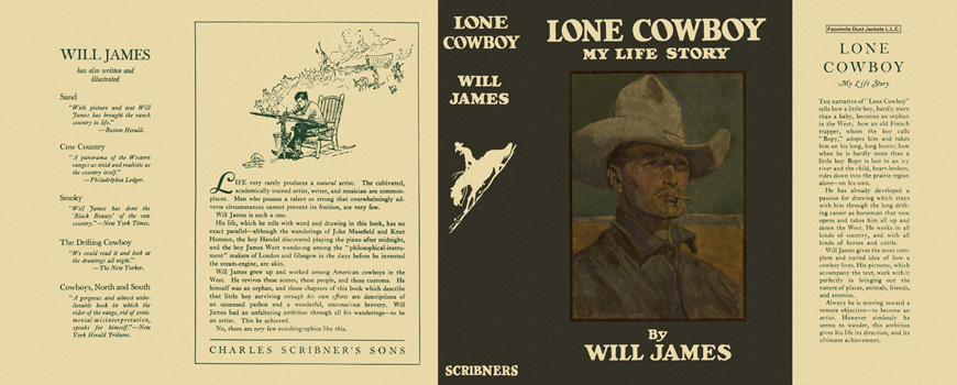 Lone Cowboy, My Life Story. Will James