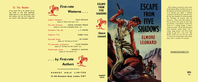 Escape from Five Shadows. Elmore Leonard