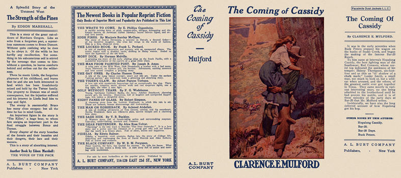 Coming of Cassidy, The. Clarence E. Mulford