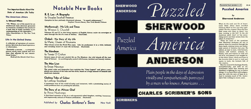 Puzzled America. Sherwood Anderson