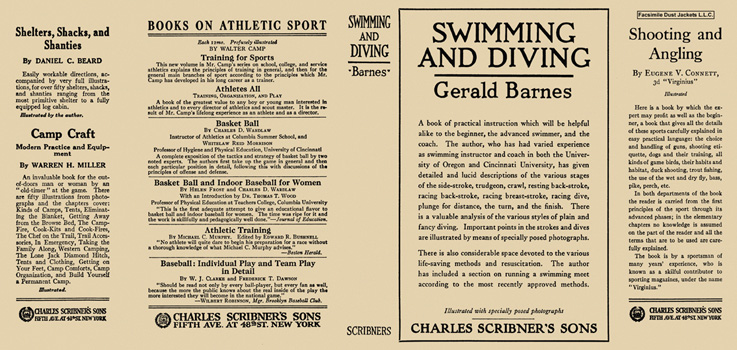 Swimming and Diving. Gerald Barnes