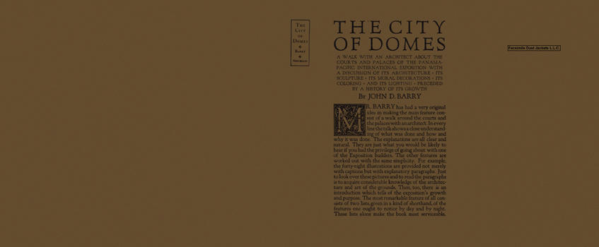 City of Domes, The. John D. Barry